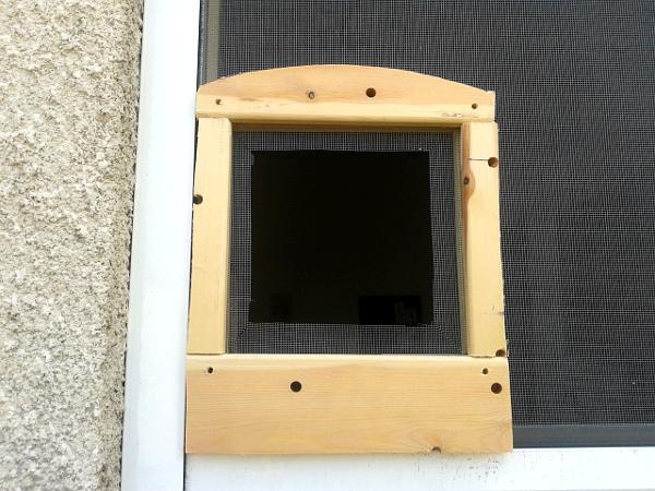 Come costruire una gattaiola fioriera con grigliato plastica for Porta basculante per cani fai da te