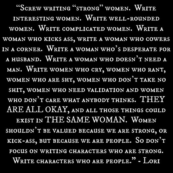 screw writing strong women, scrivere personaggi femminili