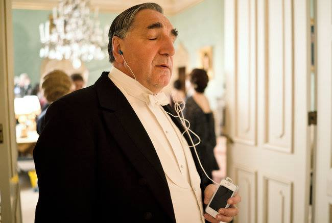 mr carson, ipod, mp3, downton abbey, funny