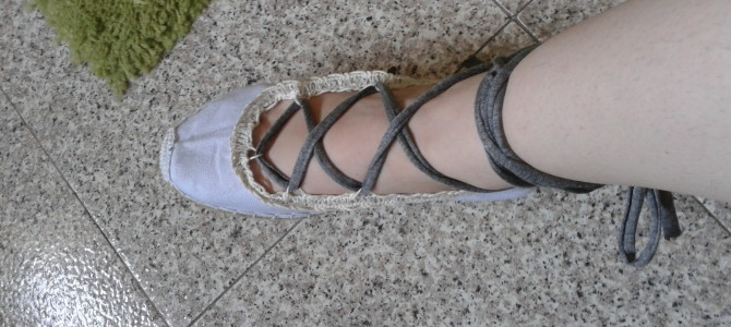 Laced flats diy – tutorial
