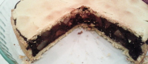 Chocolate and pear pie – recipe